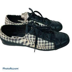 Y-3 Yohji Yamamoto Adidas distorted gingham shoes